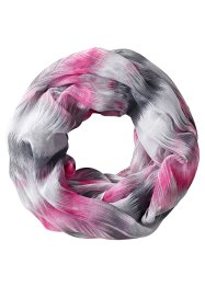 Écharpe-tube multicolore, bpc bonprix collection, fuchsia/blanc/gris