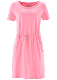 Robe sweat manches 1/2, bpc bonprix collection, rose néon chiné