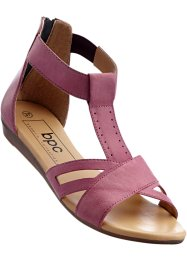 Sandales cuir, bpc bonprix collection, fuchsia