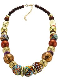 Collier Ethno, bpc bonprix collection, doré/marron