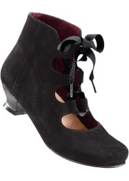 Bottines en cuir, bpc selection, noir/bordeaux