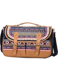 Sac Multicolore, bpc bonprix collection, marron/fuchsia/crème/rouge/noir