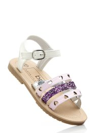 Sandales, bpc bonprix collection, blanc/rose