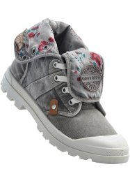 Chaussures montantes en toile, Mustang, gris
