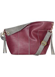Cabas Doubleface, bpc bonprix collection, bordeaux/gris
