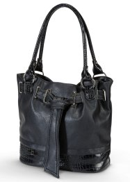 Sac imitation croco, bpc bonprix collection, noir