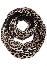 Foulard tube Nami, bpc bonprix collection, léopard noir/marron clair