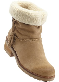 Bottines en cuir, bpc bonprix collection, taupe