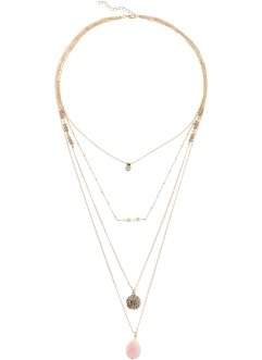 Collier multi-rangs Candy, bpc bonprix collection, doré