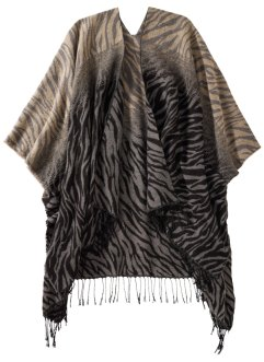 Poncho animal, bpc bonprix collection, marron/noir