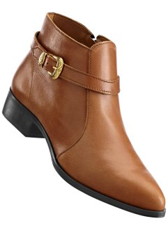 Bottines en cuir, bpc selection, cognac