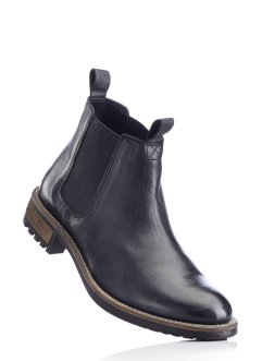 Bottines Chelsea en cuir, RAINBOW, noir