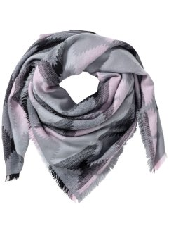 Foulard Ethnique, bpc bonprix collection, gris clair/rose
