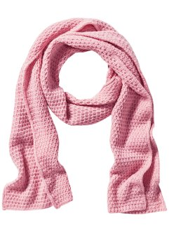 Écharpe en maille XXL, bpc bonprix collection, rose poudré
