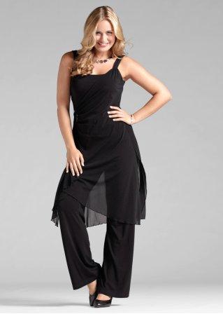 l 39 ensemble top et pantalon de soir e noir femme bonprix. Black Bedroom Furniture Sets. Home Design Ideas