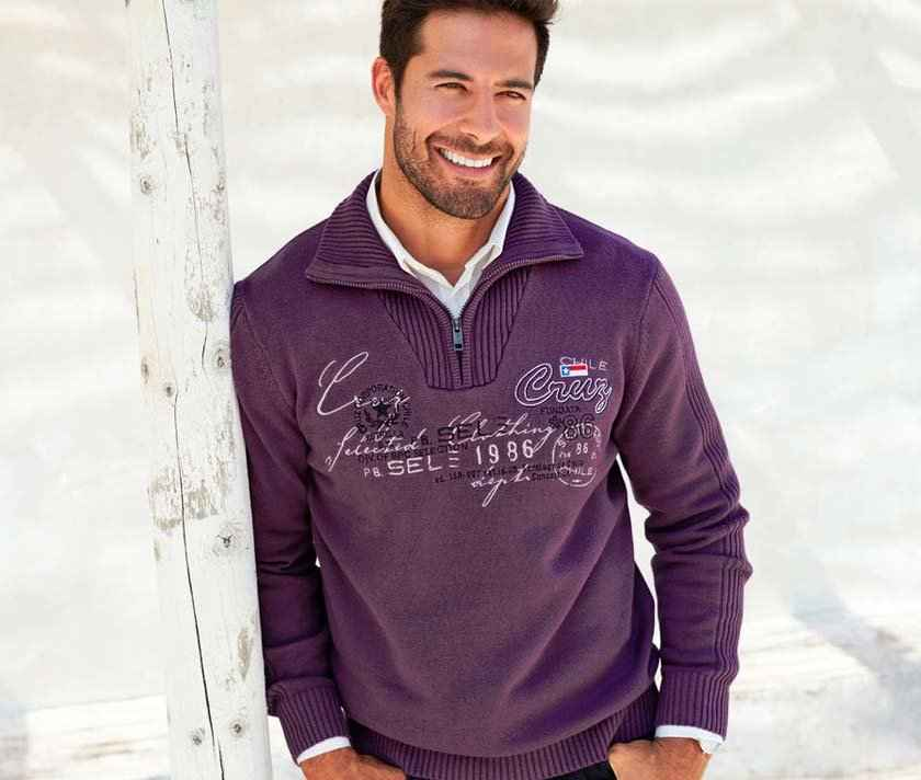 Homme - Pull camionneur Regular Fit - myrtille