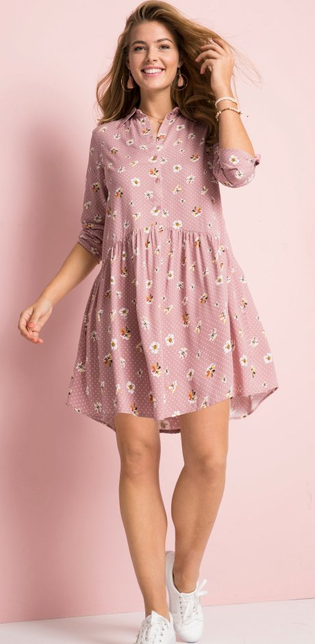 Femme - Robe-chemise : MUST-HAVE - rose