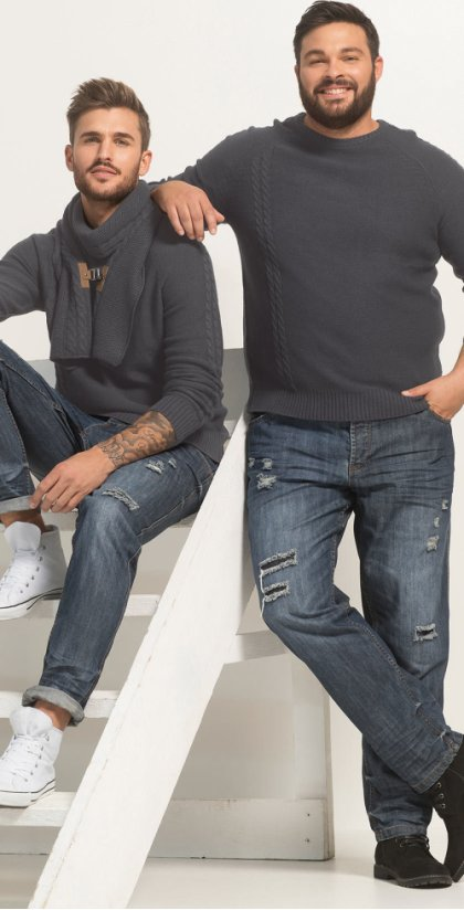 Homme - Jean Regular Fit Tapered - bleu stone used