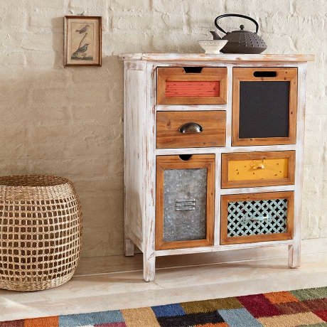 Maison - Commode Hanno - blanc/multicolore