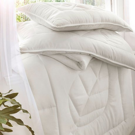 Maison - Couette anti-allergies - blanc