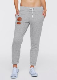 Pantalon sweat longueur 7/8, bpc bonprix collection, gris clair chiné