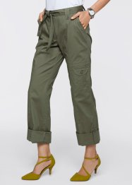 Pantalon retroussable, bpc selection, olive