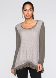 Top aspect maille, BODYFLIRT, taupe