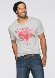 T-shirt regular fit avec imprimé, John Baner JEANSWEAR, gris clair chiné