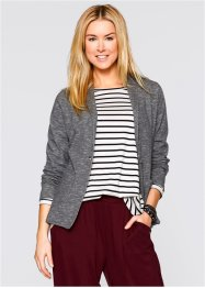 Blazer sweat manches longues, bpc bonprix collection, gris chiné