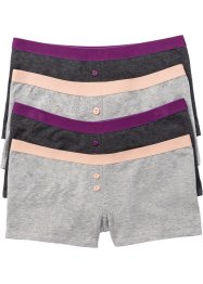 Lot de 4 boxers femme, bpc selection, gris chiné