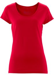 T-shirt manches courtes extensible, bpc bonprix collection, rouge