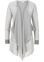 Gilet sweat effet tricot, bpc bonprix collection, gris clair chiné