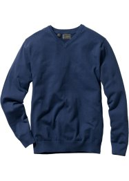Pull col en V Regular Fit, bpc selection, bleu foncé