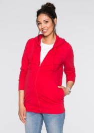 Veste sweat de grossesse avec fronces, bpc bonprix collection, rouge
