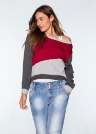 Pull en maille multi-couleurs, RAINBOW