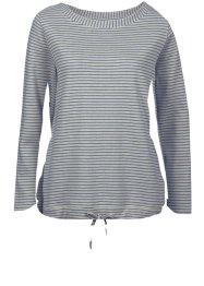 Sweat-shirt, John Baner JEANSWEAR, gris clair chiné rayé