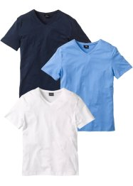 Lot de 3 t-shirts col en V, bpc bonprix collection