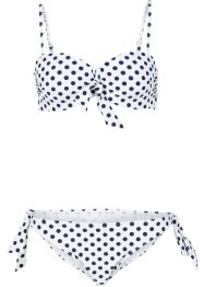 Bikini à armatures (Ens. 2 pces.), bpc bonprix collection, blanc/bleu