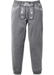 Pantalon sweat bavarois Slim Fit, RAINBOW, gris chiné