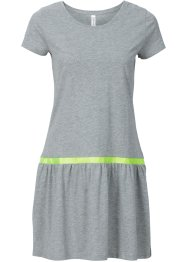 Robe T-shirt, RAINBOW, gris clair chiné (jaune fluo)