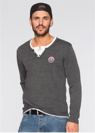 Pull Slim Fit, RAINBOW, anthracite chiné