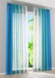 Voilages Dégradé (lot de 2), bpc living, bleu