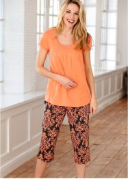Pyjama corsaire, bpc bonprix collection, orange/noir