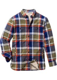 Chemise outdoor Regular Fit, John Baner JEANSWEAR, vert kaki à carreaux