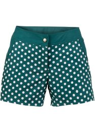 Short de bain, bpc bonprix collection, pétrole/blanc