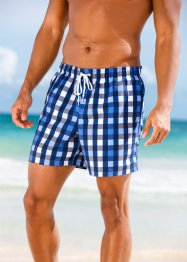 Short de bain homme, bpc bonprix collection, bleu à carreaux