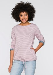 Sweat-shirt, John Baner JEANSWEAR, rose/gris rayé