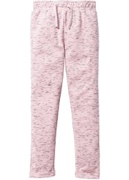 Pantalon sweat chiné, bpc bonprix collection, rose dragée/anthracite chiné