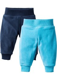 Lot de 2 pantalons bébé en polaire, bpc bonprix collection