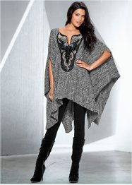 Poncho, BODYFLIRT boutique, gris chiné